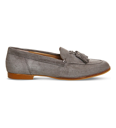 OFFICE Petra tassel loafer (Grey+suede