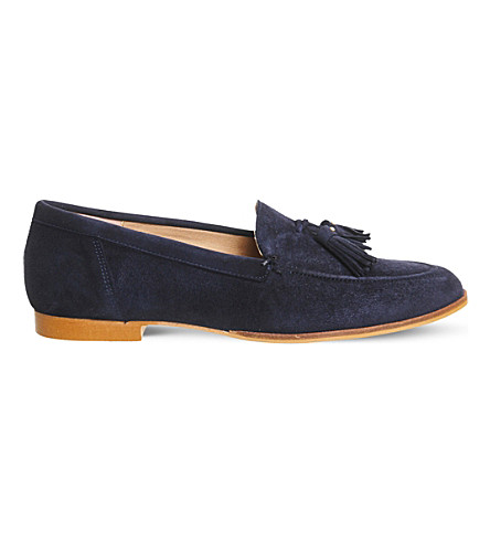 OFFICE Petra suede tassel loafer (Navy+suede