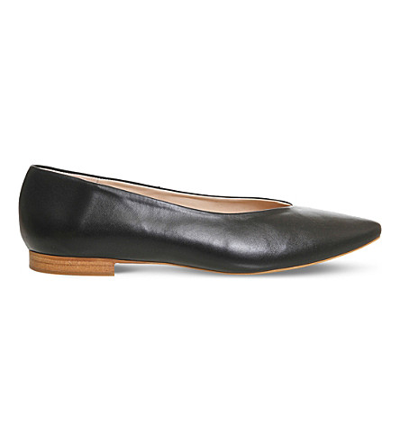 OFFICE Poison Point leather ballet flats (Black+leather