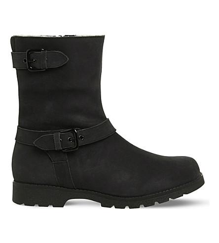 OFFICE Lam Lam nubuck-leather biker boots (Black+nubuck