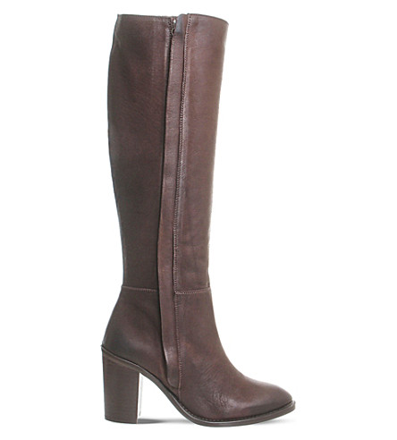 OFFICE Kaiser knee-high leather boots (Brown+leather