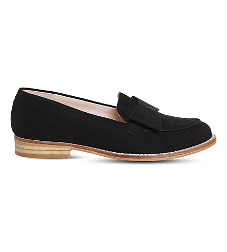 OFFICE Present Bow suede loafers (Black+suede