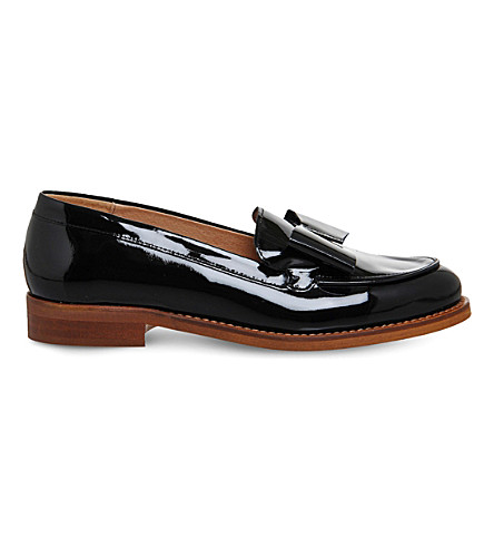OFFICE Present Bow patent leather loafers (Black+patent+leather
