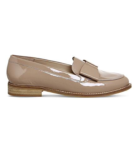 OFFICE Present Bow patent leather loafers (Nude+patent+leather