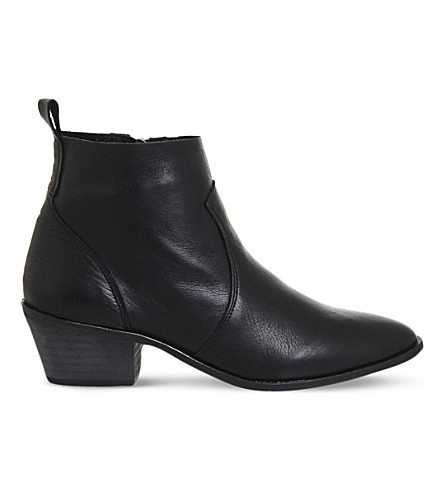 OFFICE Leigh leather ankle boots (Black+leather