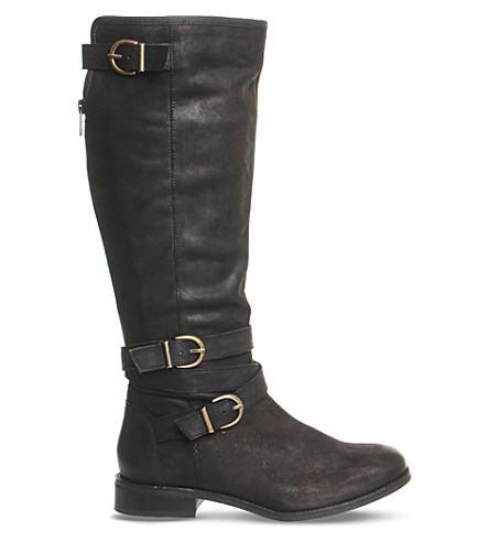 OFFICE Kara leather knee-high boots (Black+leather