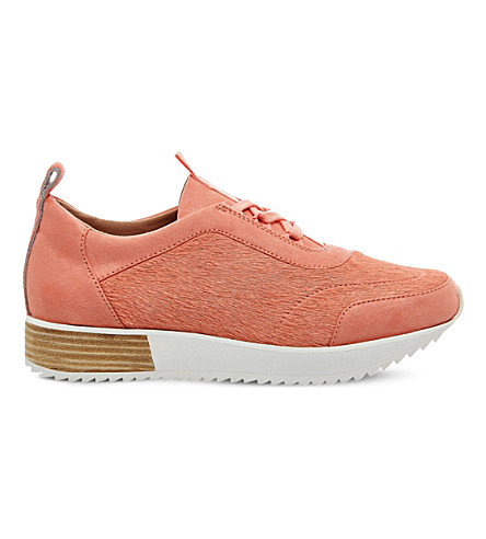 OFFICE Animal Pony Ghillie Tie trainers (Nude