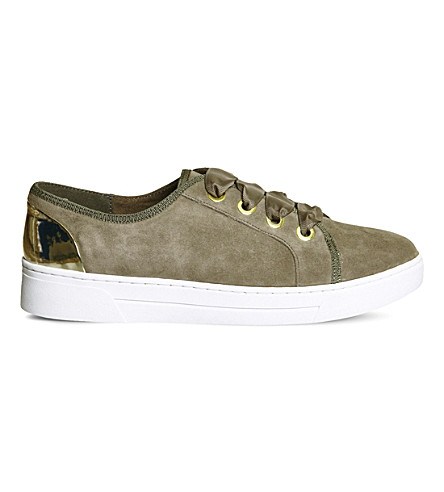 OFFICE Adore suede sneakers (Khaki