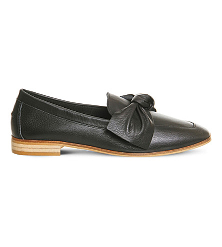 OFFICE Possum leather loafers (Black+leather