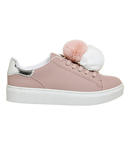 OFFICE Fluffy pom pom trainers (Pink white pink