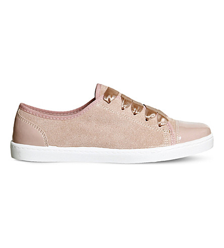 OFFICE Puffin low-top suede trainers (Pink