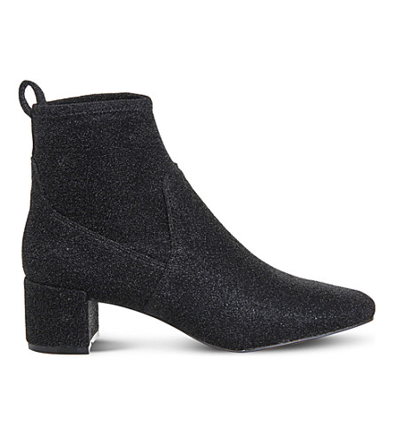 OFFICE Glitter stretch ankle boots (Black+glitter