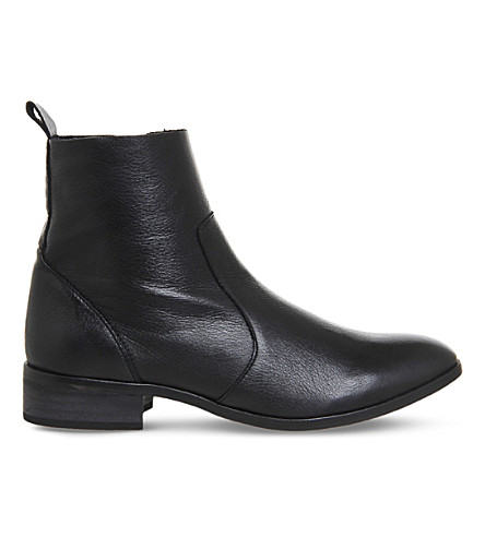 OFFICE Ashleigh leather ankle boots (Black+leather
