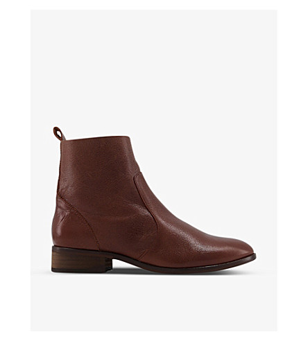 OFFICE Ashleigh leather ankle boots (Brown+leather