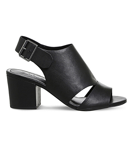 OFFICE Mantra leather peep-toe sandals (Black+leather