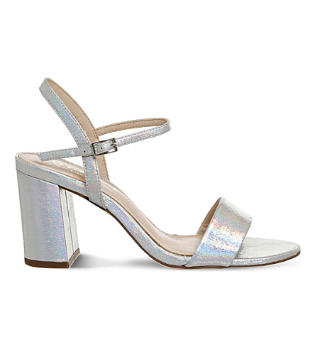 OFFICE Millionaire metallic sandals (Silver+iridescent