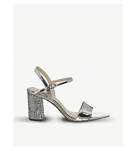 OFFICE Millionaire metallic sandals (Silver+glitter