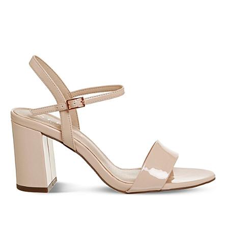 OFFICE Millionaire patent sandals (Nude+patent