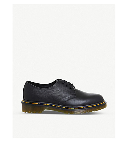 DR. MARTENS 3-eyelet leather shoes (Black+virginia
