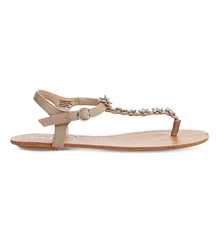 OFFICE Sweetie Pie embellished sandals (Nude