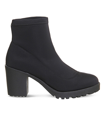 OFFICE Alien neoprene ankle boots (Black