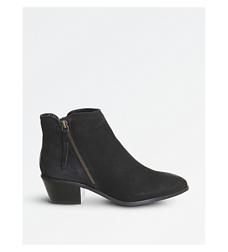 OFFICE Austin side-zip nubuck ankle boots (Black+nubuck