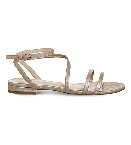 OFFICE Sugar asymmetric sandals (Rose+gold+hologram