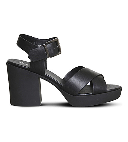 OFFICE Marker chunky cross-strap sandals (Black