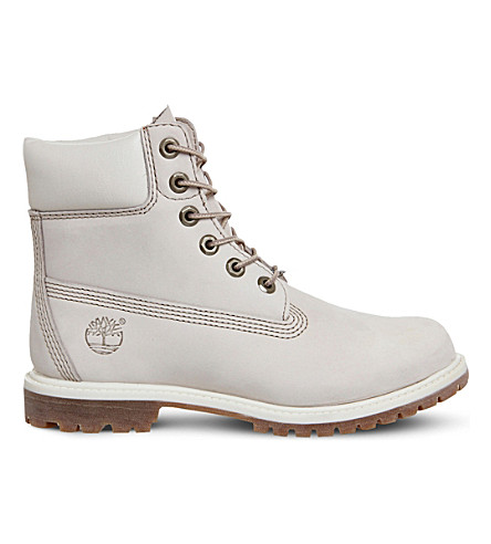 TIMBERLAND 6-inch leather boots (Winter white nubuck