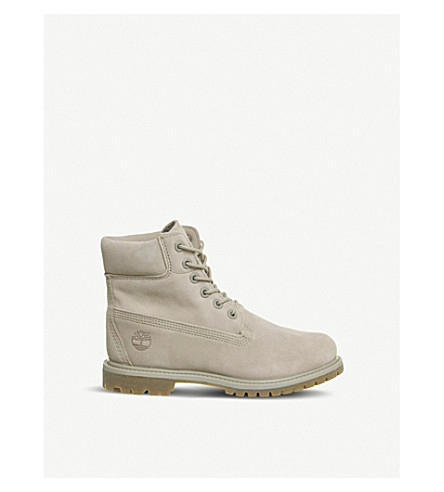 TIMBERLAND Premium 6-inch leather boots (Simply+taupe
