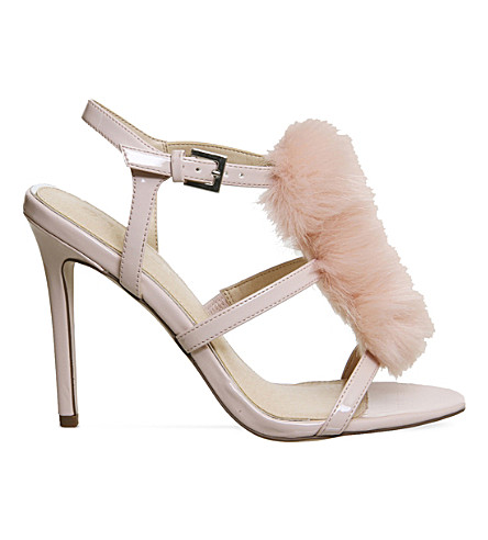 OFFICE Hurrah pom pom patent sandals (Pink+patent