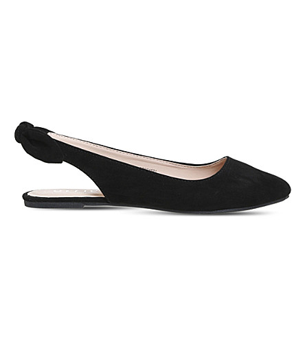 OFFICE Fairytale velvet flats (Black-velvet