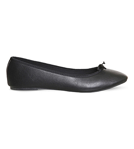 OFFICE Foot step ballet flats (Black