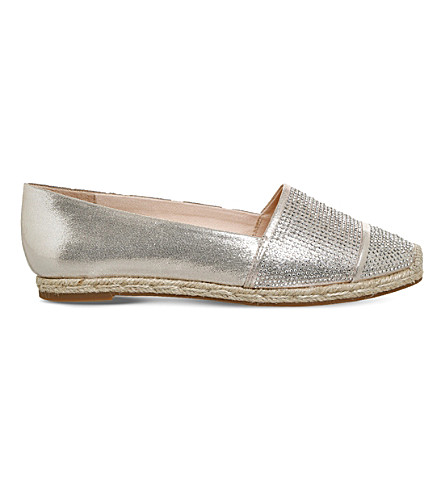 OFFICE Flamenco embellished espadrilles (Gold+with+diamantes