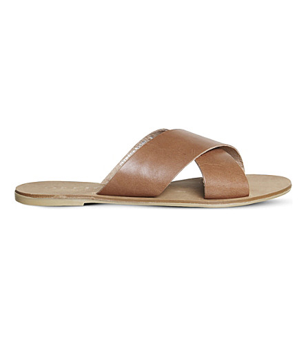 OFFICE Spiritual leather sandals (Tan+leather