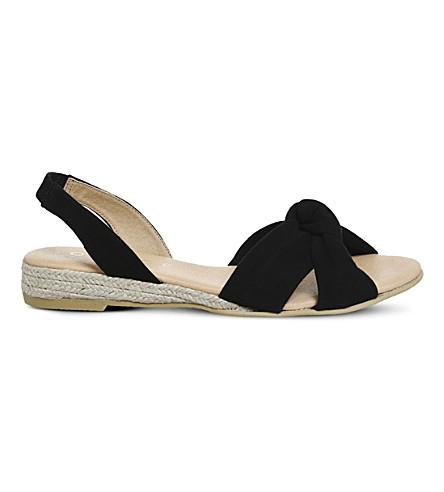 OFFICE Sallie espadrille suede sandals (Black+suede