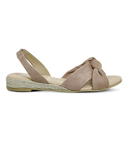 OFFICE Sallie espadrille suede sandals (Camel+suede
