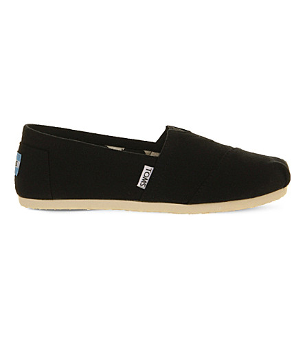 TOMS Classic canvas shoes (Black+canvas