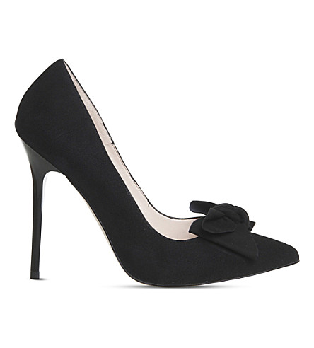 OFFICE Hey Girl Bow courts (Black+kid+suede