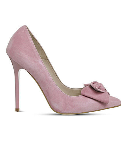 OFFICE Hey Girl Bow courts (Pink+kid+suede