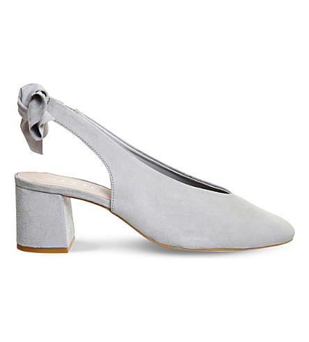 OFFICE Magic bow suede court shoes (Grey+suede
