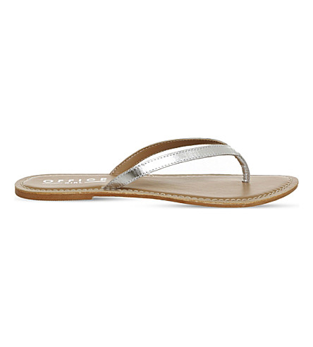 OFFICE Stix metallic-leather sandals (Silver+metallic