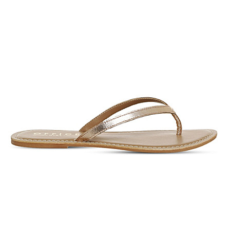 OFFICE Stix metallic-leather sandals (Rose+gold+metallic