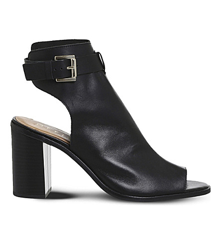 OFFICE Adele cutout leather ankle boots (Black+leather
