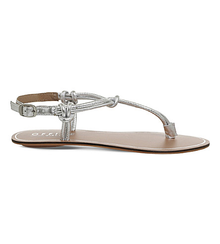 OFFICE Sushi metallic-leather sandals (Silver+leather