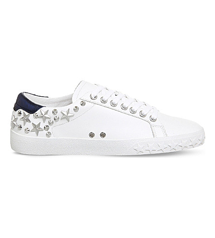 ASH Dazed studded leather trainers (White+leather