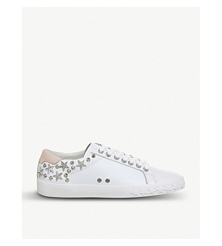 ASH Dazed studded leather trainers (White+powder+leather