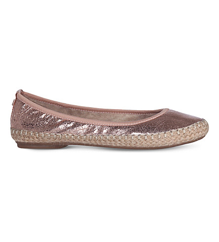 BUTTERFLY TWISTS Gigi espadrille pump (Cracked+rose+gold