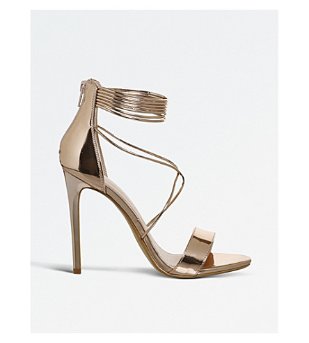 OFFICE Hollywood metallic sandals (Rose+gold+mirror
