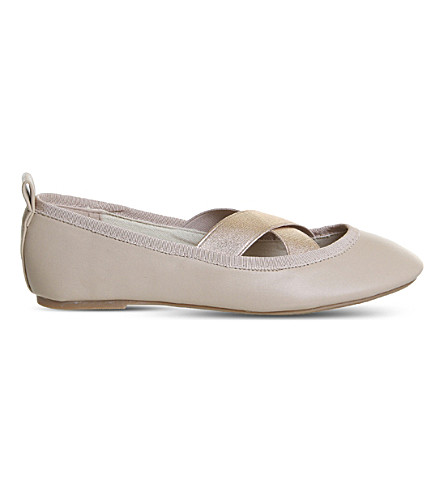 OFFICE Fairness elasticated ballet shoes (Nude